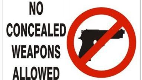 No concealed weapons