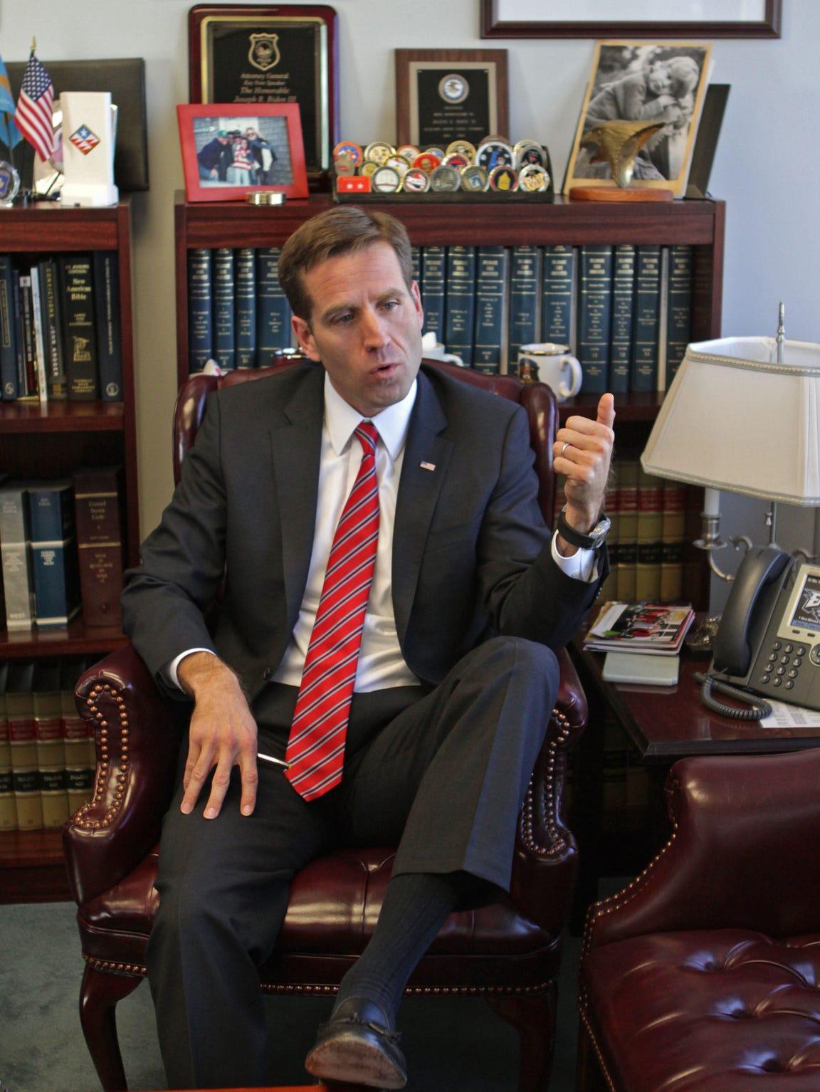 Then-Delaware Attorney General Beau Biden