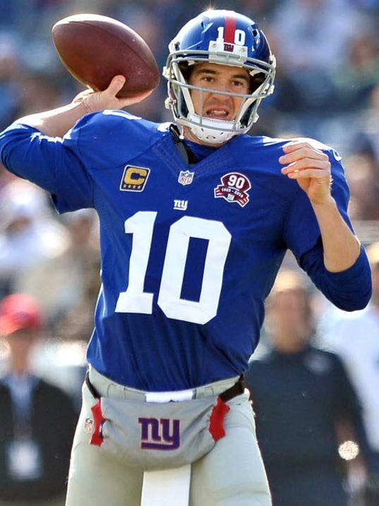 New york giants quarterback eli manning says he is not worried about a