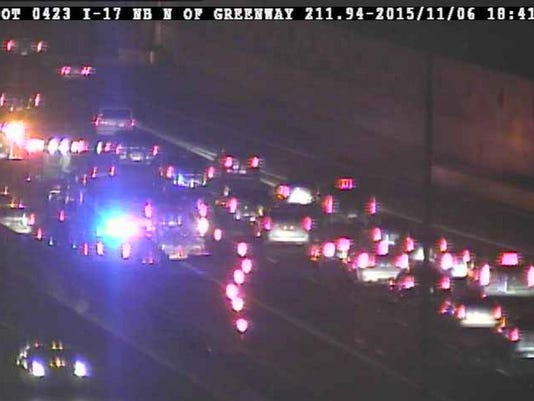 I-17 motorcycle crash near Greenway Road