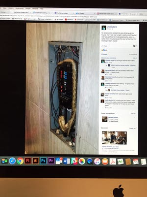 A Mississippi couple found a snake inside the breaker box in their home.
