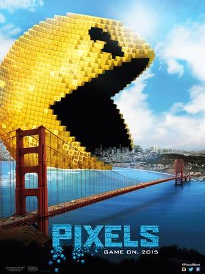 """Teaser poster for """"Pixels,"""" opening July 24."""
