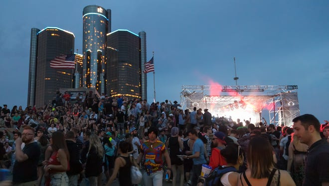 A scene from the 2015 Movement festival in downtown Detroit.