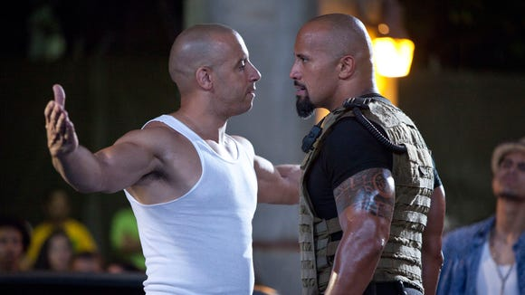 Vin Diesel, left, and Dwayne Johnson had their disagreements
