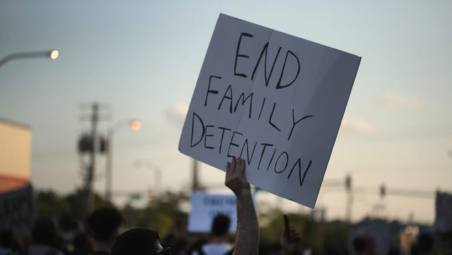 Demonstrators hold a rally in the Little village neighborhood calling for the elimination of the U.S. Immigration and Customs Enforcement (ICE) and an end to family detentions on June 29, 2018 in Chicago, Illinois.