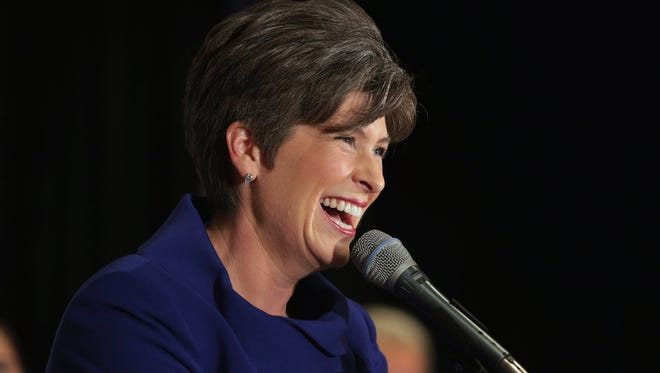 Republican Senator-elect Joni Ernst of Iowa thanks her supporters.