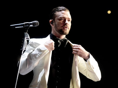 Justin Timberlake performs at The Staples Center on Nov. 26, 2013, in Los Angeles.