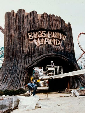 1994: Bugs Bunny Land is shown under construction at Great Adventure.