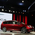 FCA unveiled the 2017 Chrysler Pacifica during the 2016 North American International Auto Show held at Cobo Center in downtown Detroit on Monday, Jan. 11, 2016. Eric Seals/Detroit Free Press