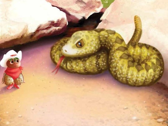 The Buckaroo Buckeye meets a rattlesnake in the Arizona