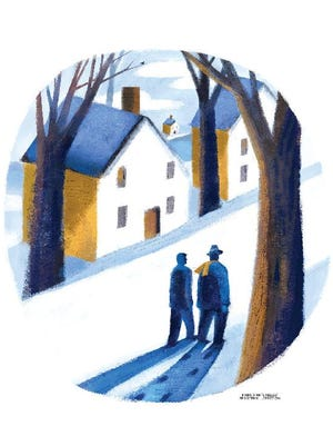 Illustration by Mark Marturello, for Christmas story by Tom Gingerich