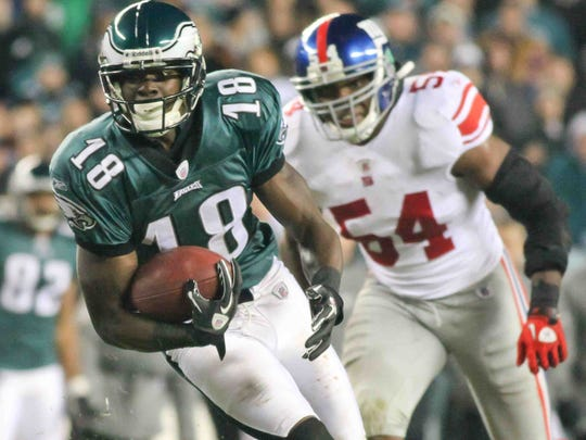 Jeremy Maclin played for the Eagles from 2009-14. He spent the next three seasons with the Kansas City Chiefs.
