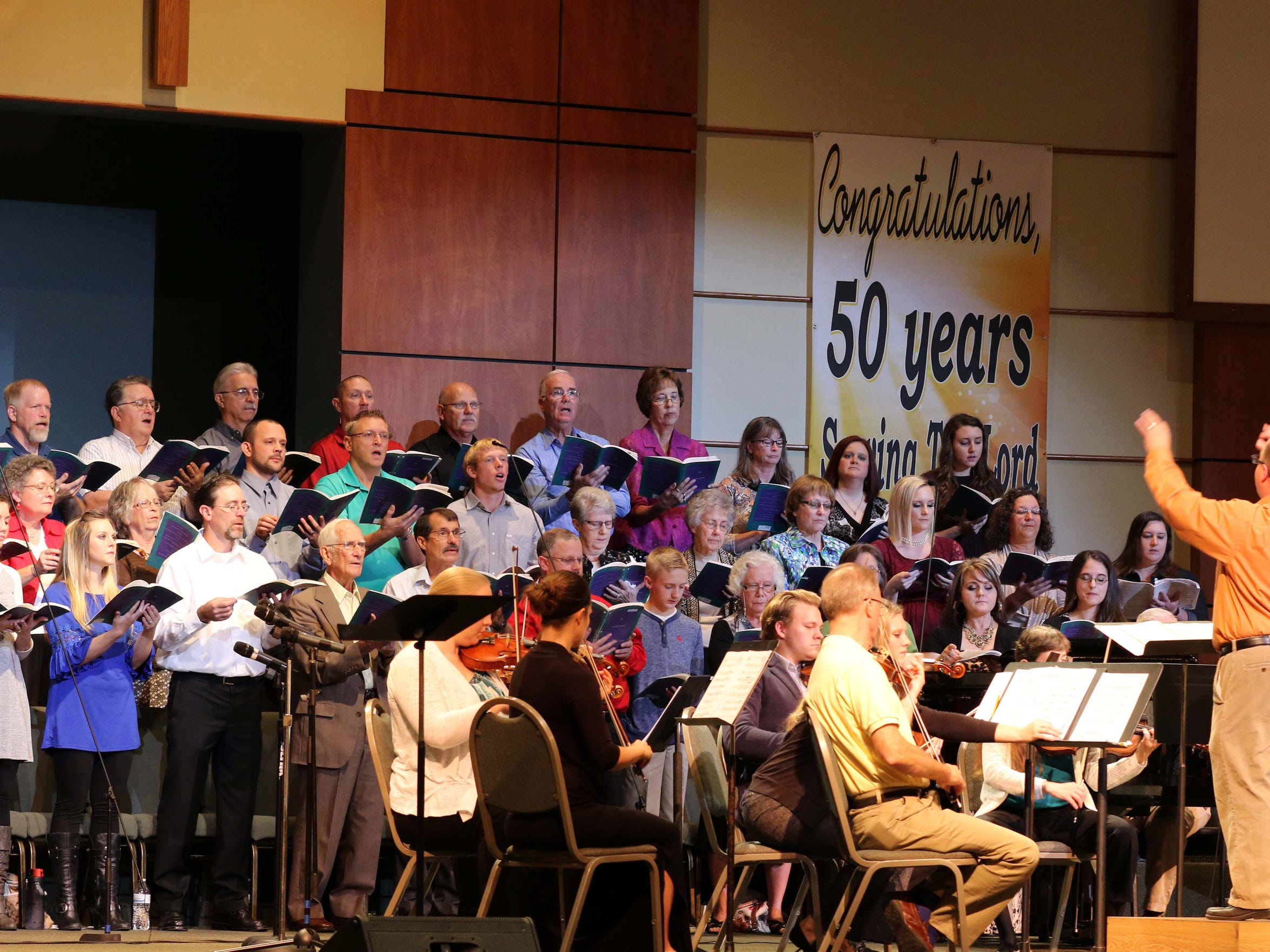 The choir at Calvary Baptist in Republic sings during