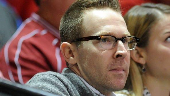 Oklahoma City Thunder general manager Sam Presti spends