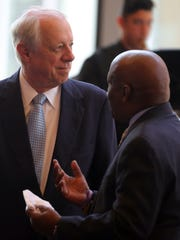 Former Tennessee Gov. Phil Bredesen mingles before