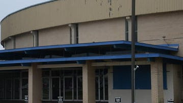 The Rapides Parish Coliseum is closed as it awaits renovation, which has been held up by a dispute over property needed for parking.