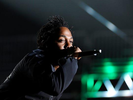 Kendrick Lamar performs at Bonnaroo Music and Art Festival on Friday June 12, 2015.  Kendrick Lamar performs at Bonnaroo Music and Art Festival on Friday June 12, 2015.
