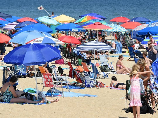 Wether cooling off in the shade, under and umbrella, or just floating and sitting in pool water, the weather has definitely been hot in July and the 1st part of August in Rehoboth Beach.