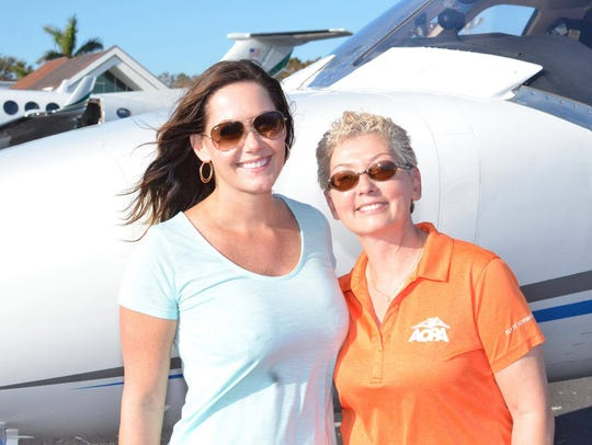 Crystal Lemley with Pilots Association's Angel Flights