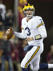 Michigan quarterback Wilton Speight.