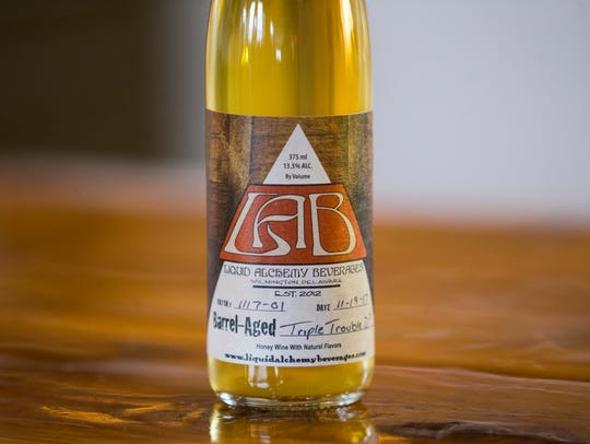 Liquid Alchemy Beverages' Triple Trouble D³ mead will debut Saturday at their Elsmere area tasting room. Both Smyrna's Painted Stave Distilling and Dover's Fordham and Dominion Brewing Company took part in the rare collaboration.