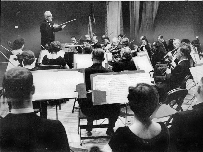 Wilford Crawford, conductor of the Rochester Community
