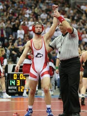 Highland's Bryce West is recognized after defeating