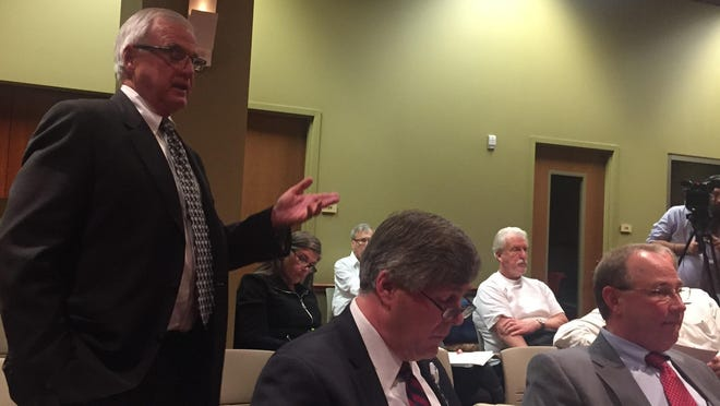 Baptist Life Communities CEO Robert Long speaks to Campbell County Fiscal Court Nov. 18 about plans for a $50 million older adults community for Alexandria.