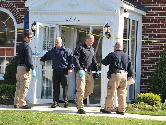 Vineland Police investigate a robbery at the Cape Bank