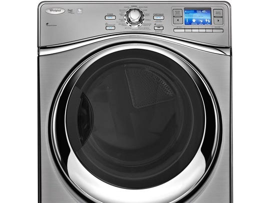 The Whirlpool Smart Front Load Electric Dryer.