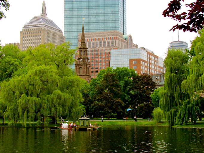 Boston is home to the oldest and most historically relevant green space in the nation, the Boston Common. Having held many purposes - from cattle grazing to public hangings and, most famously, the camping grounds for British troops at the Revolution's start - the Common's current use is recreation. Boston Common is alive with activity, from pick-up games on its lawns to swimming and ice skating on popular Frog Pond.