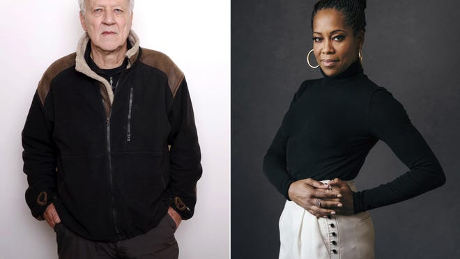 """This combination photo shows actor-director Werner Herzog, left, and actress-director Regina King. The Toronto International Film Festival on Thursday unveiled a lineup featuring the directorial debut of Regina King and the latest documentary from Herzog. King directs a drama about a young Muhammad Ali, then Cassius Clay, titled """"One Night in Miami,"""" and Herzog and Clive Oppenheimer have a meteorite documentary called """"Fireball: Visitors from Darker Worlds.""""  The festival, which is set to run Sept. 10-19, has plotted a largely virtual 45th edition due to the pandemic."""