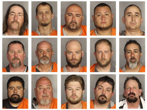 This combination of booking photos provided by the