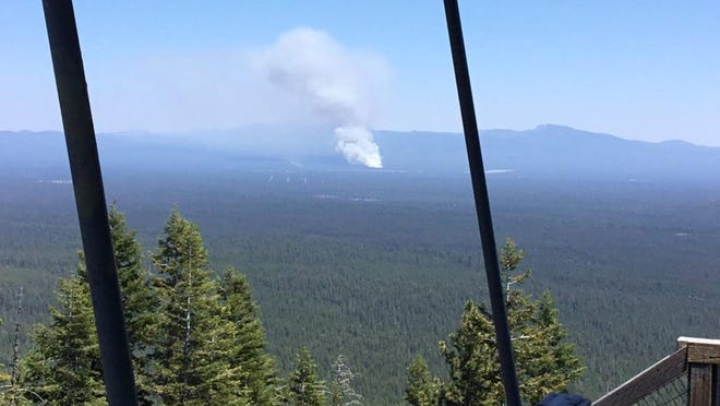 The Paulina Lake Fire has been one of the few wildfires that has popped up so far this season in Oregon.