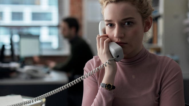 "Julia Garner plays the assistant to a Harvey Weinstein-like studio boss in ""The Assistant."""