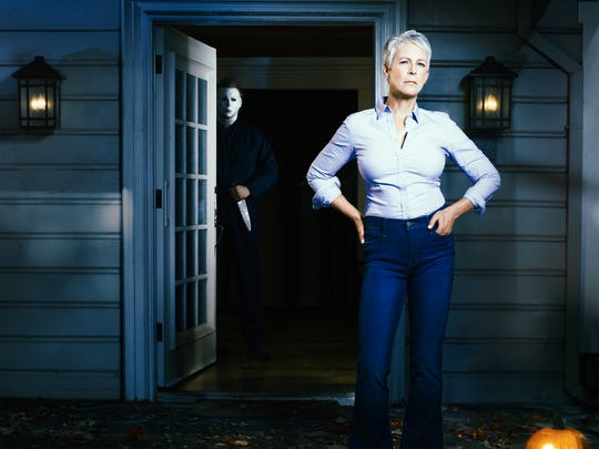 Jamie Lee Curtis reprises her iconic role as Laurie Strode in 'Halloween.'