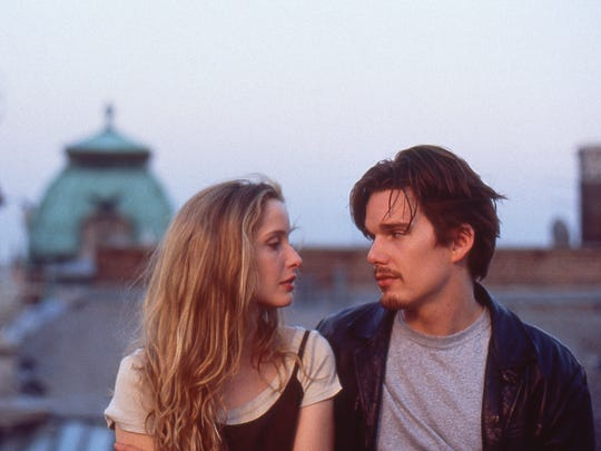 "Julie Delpy and Ethan Hawke in a scene from ""Before"