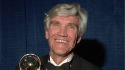 David Canary with his fourth Daytime Emmy award for