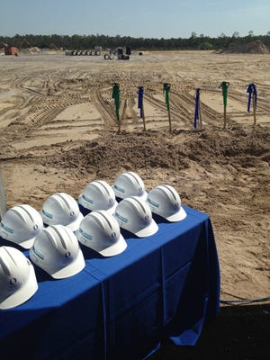 FGCU officials and local politicians broke ground Tuesday at the university's Emerging Technology Institute on a six-acre site on Airport Haul Road.