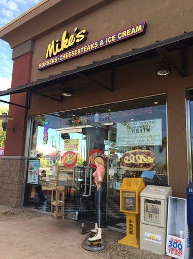 Mike's sells burgers, cheesesteaks and ice cream in