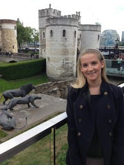 Sgt. Kirstie Ennis visiting the famed Tower of London