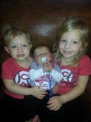 Stefanie White's kids (from left): Molly, 2, Luke,