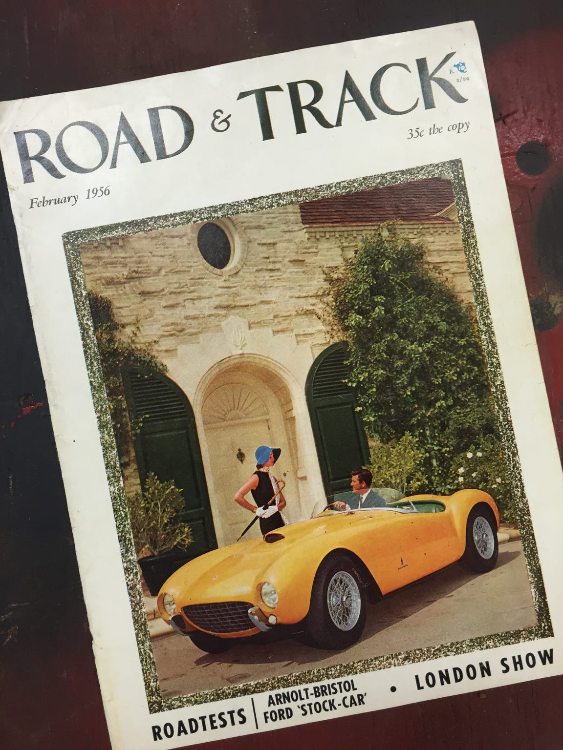 This bright yellow Arnolt-Bristol graced the cover