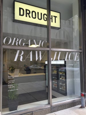 Drought organic raw juices opened a downtown Detroit location in the Chrysler House Monday.