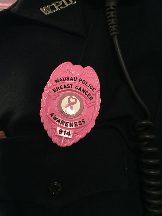 Wausau Police Department breast cancer badge