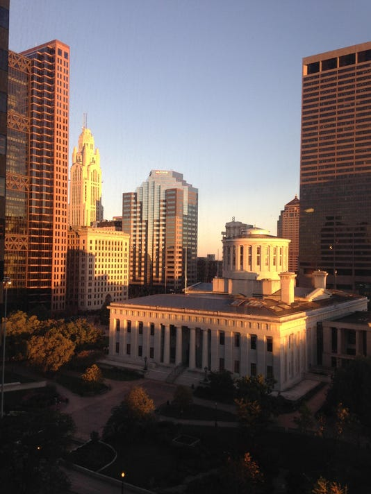 Ohio statehouse sunrise