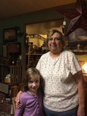 Mackenzie Kettlewell, 6, with her grandmother, Donna