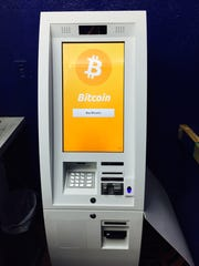 A bitcoin ATM at Ace Check Cashing in Detroit