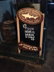 Thursday is pizza night at Dogfish Head.