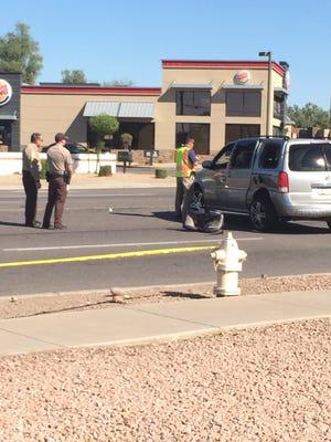 A t-bone collision in Phoenix hospitalized two children.